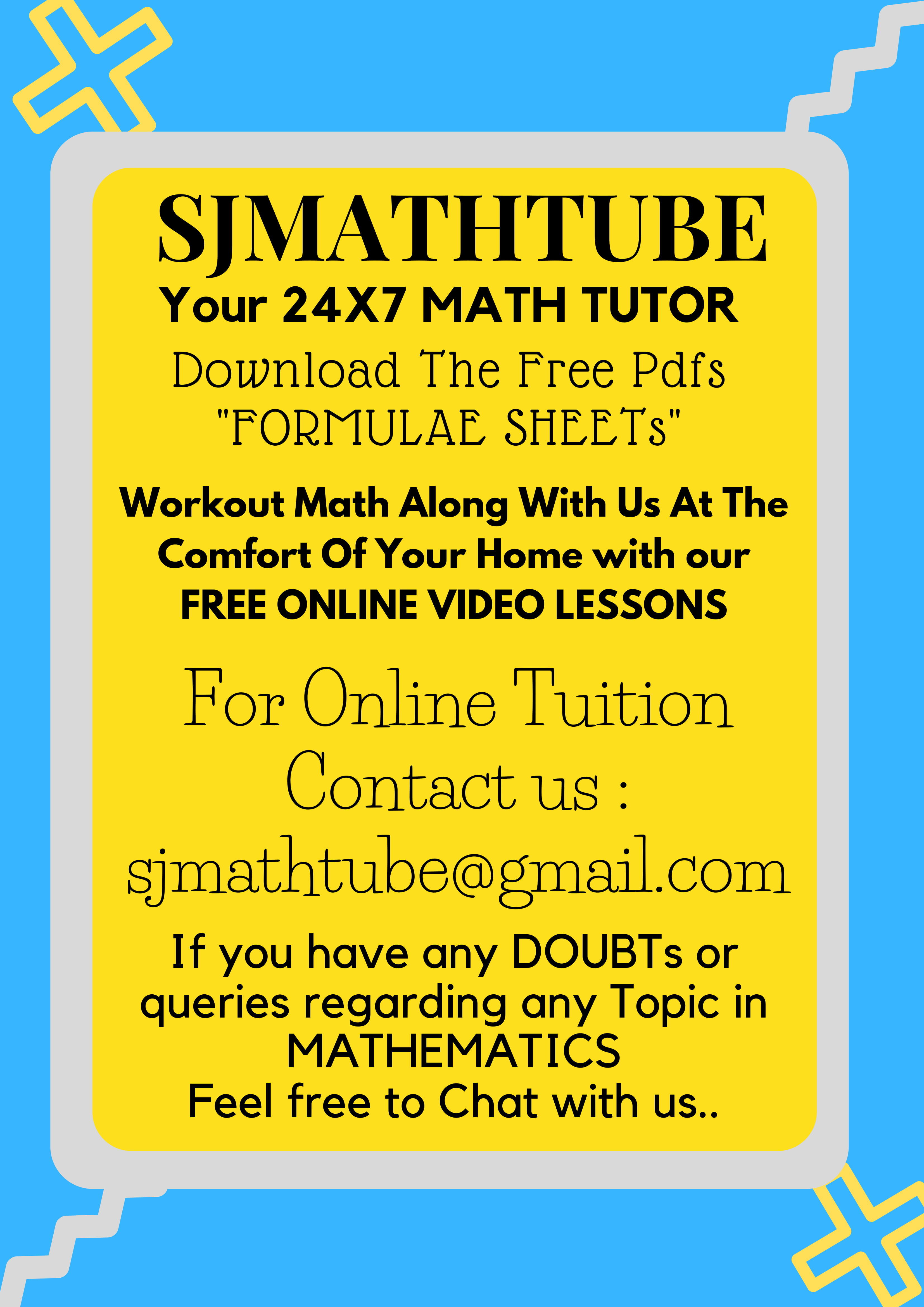 Welcome To SJMATHTUBE